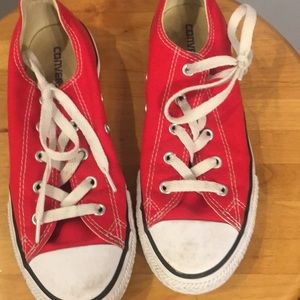 Converse Shoes - Girls red converse shoes